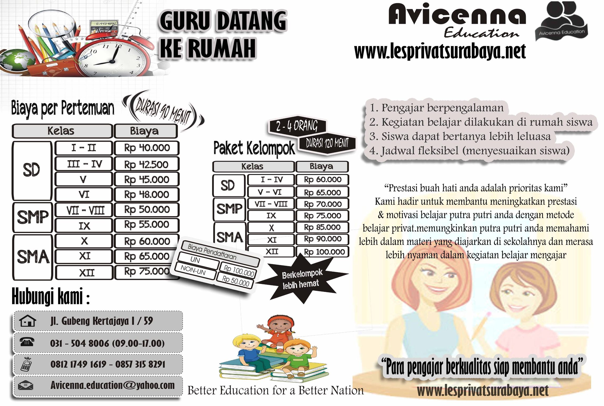 bimbingan belajar privat avicenna education